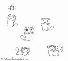Nya and friends: Sketches 29 by Natalya-Chan