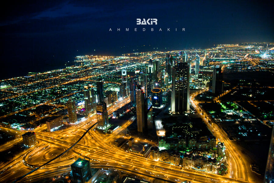 Dubai Night by AhmedBakir