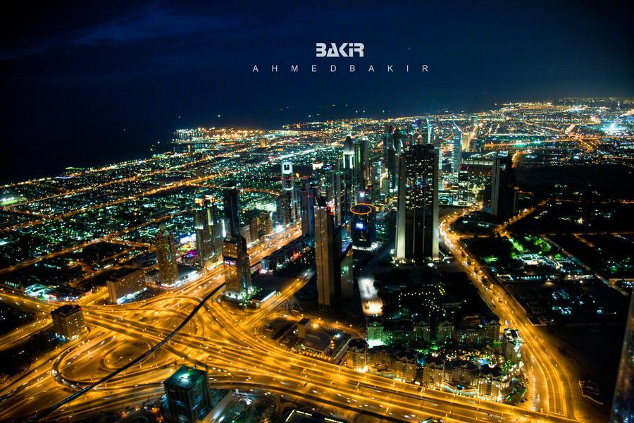 Dubai Night by AhmedBakir
