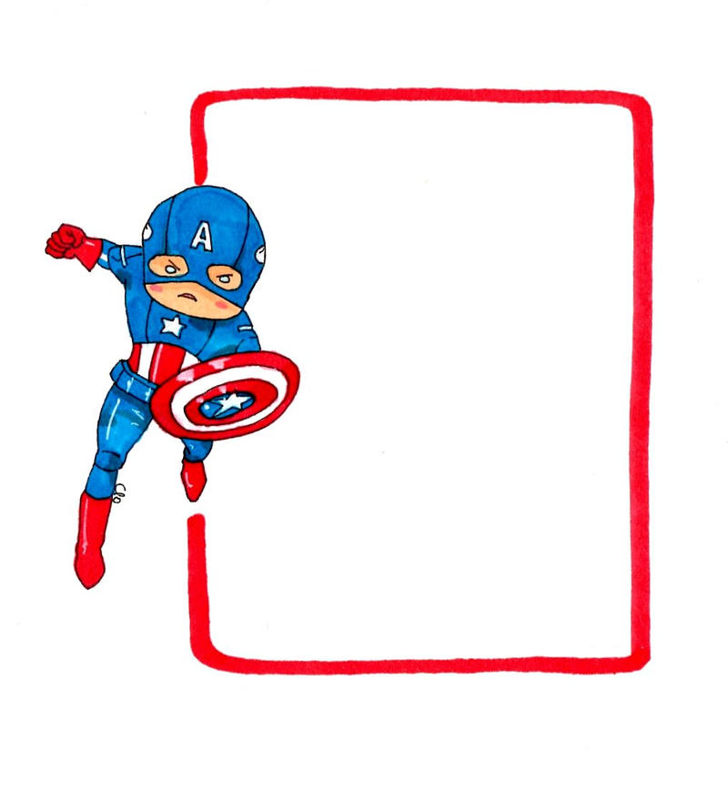 Captain America note by Namecchan