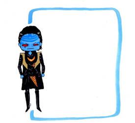 Blue Loki note by WisesnailArt