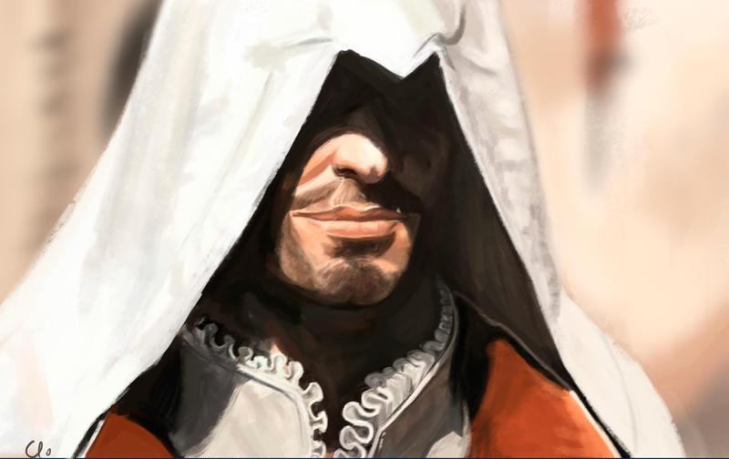 Ezio smirk by Namecchan