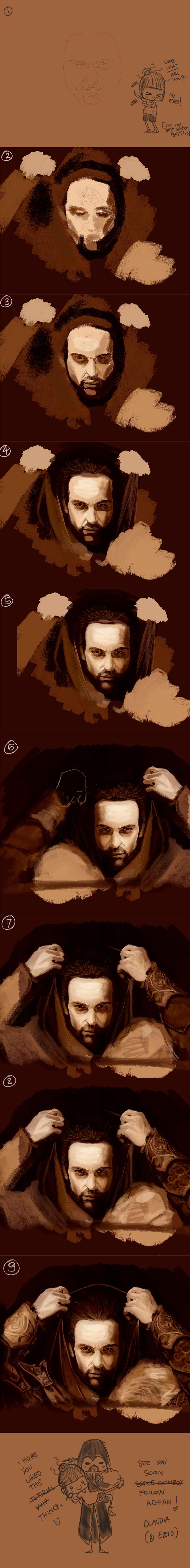 Ezio A. TUTORIAL by WisesnailArt