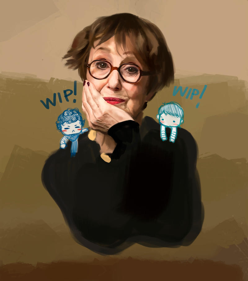 Mrs Hudson WIP by Namecchan