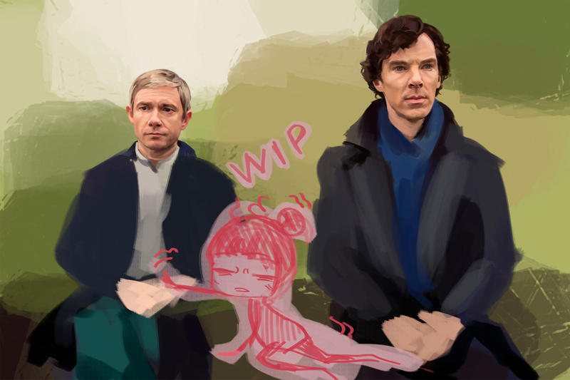 Watson and Holmes WIP by Namecchan