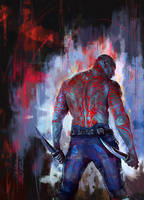 Drax the Destroyer by WisesnailArt