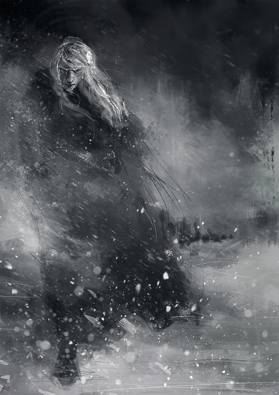 Finrod crossing the Helcaraxe