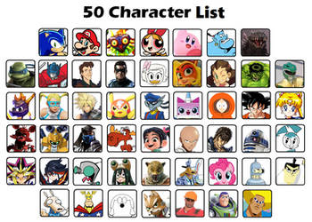 50 Character List by Death-Driver-5000