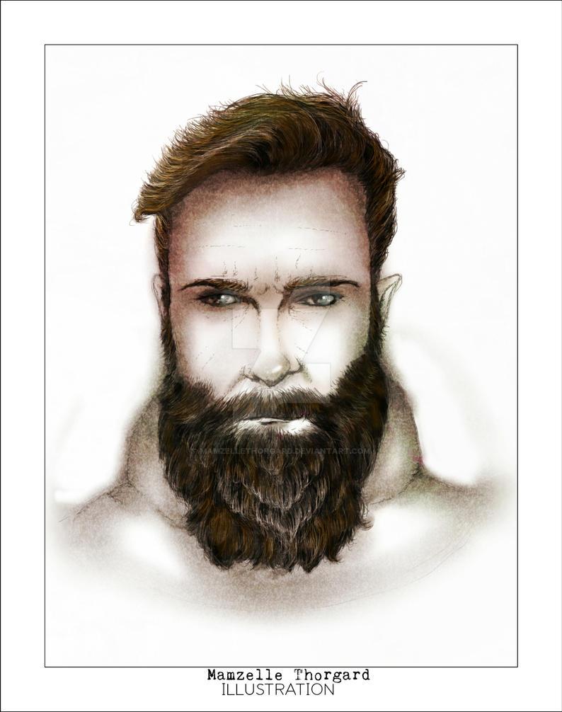 bearded man by MamzelleThorgard
