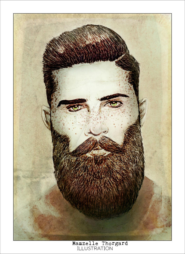 Man and beard by MamzelleThorgard