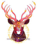 The Sun and the Stag by StellafeyDesigns
