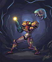 Samus VS Metroid by salzakeys