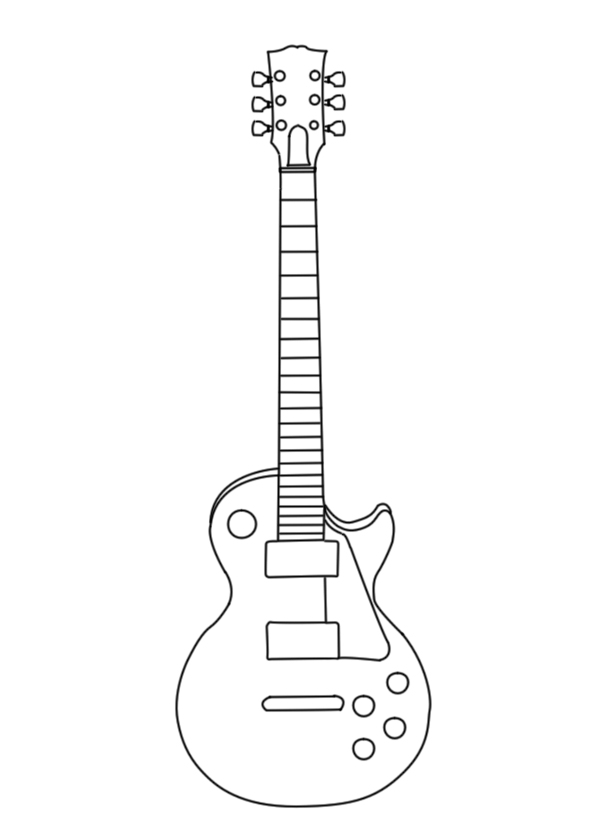 Contour Line Drawing Guitar : Les paul vector outline wip by suicidalmofo on deviantart