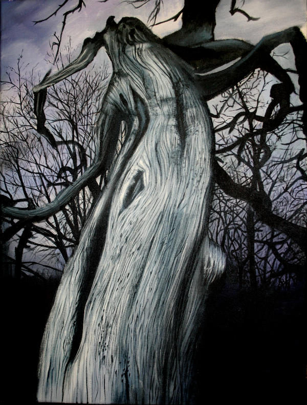 The Dark Tree Painting by x-horizon