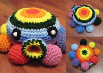 Crochet Rainbow Octopus by neonjello17