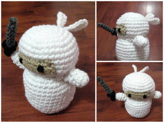 Crochet White Ninja by neonjello17