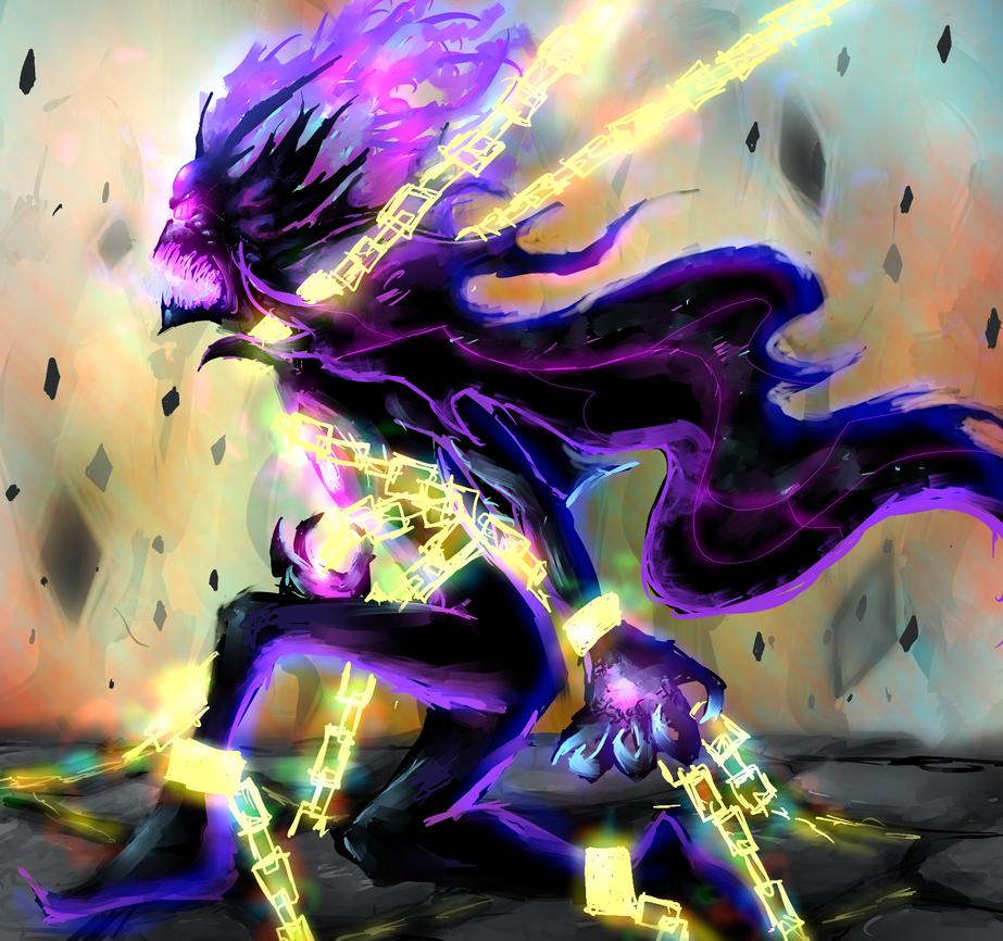 art trade: destro god of destruction by wizard11