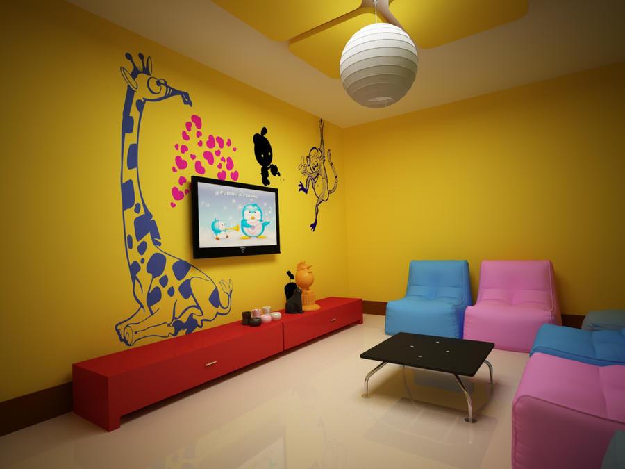 kids tv room by imranbhatti on deviantart rh imranbhatti deviantart com