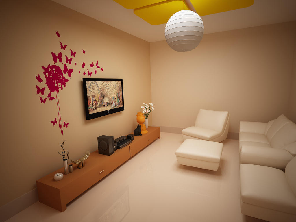 Small tv room by imranbhatti on deviantart for Small tv room design ideas