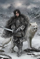 Jon Snow by fdasuarez