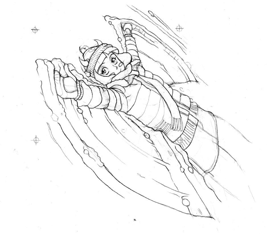 Snow Devil Sketch by JohnStaton