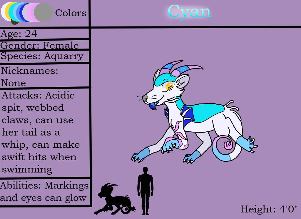 Cyan (Ref Sheet) by CyanDraggon