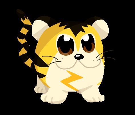 Sparky Sparky Boom Tiger (Tigrette (Beta Pokemon)) by CyanDraggon