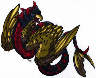 Brown-Feathered Serpent by EverboundVenvel