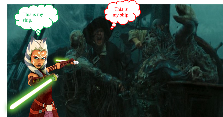 Hector Barbossa and Ahsoka Tano by JediMasterLink18 on ...
