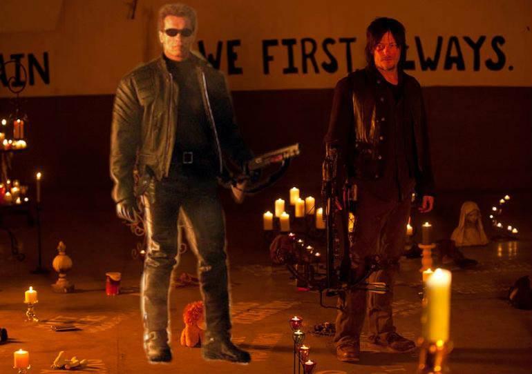 Daryl and The Terminator by JediMasterLink18