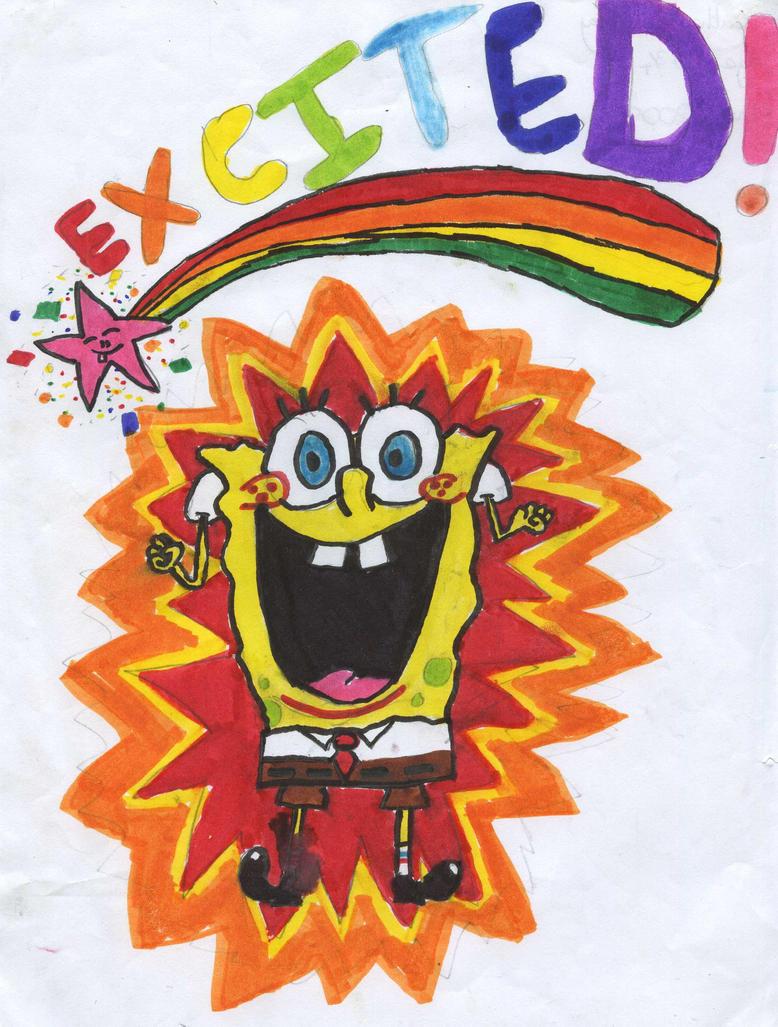 spongebob excited by littleartist1234 on deviantart
