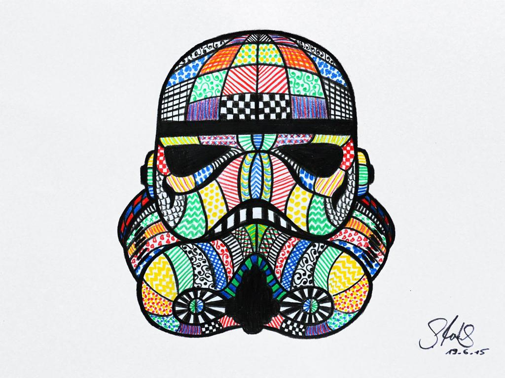 stormtrooper zentangle by sandylestrange on deviantart. Black Bedroom Furniture Sets. Home Design Ideas