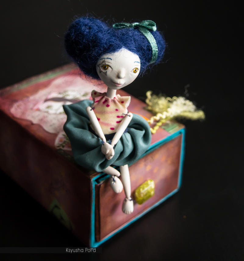 Art doll Nightingale in matchbox by Leopoldovna