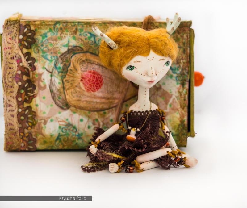 OOAK art doll The spirit of autumn by Leopoldovna