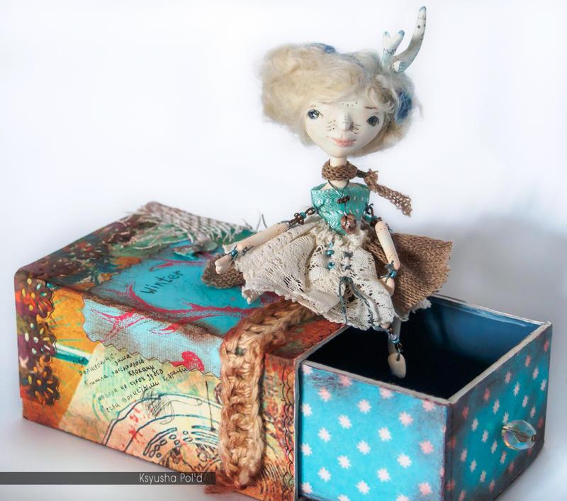 Art doll The spirit of winter by Leopoldovna