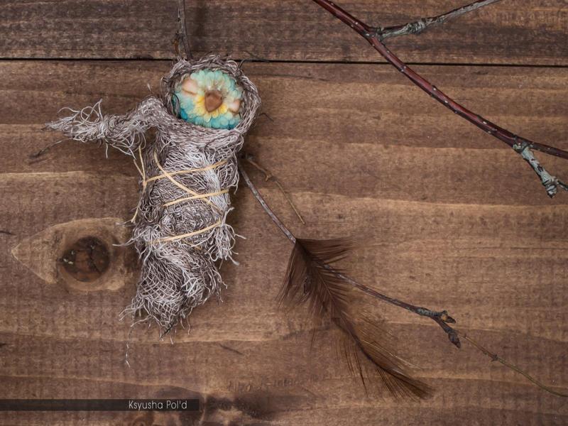 Fantasy ooak art doll Faerie Bird by Leopoldovna
