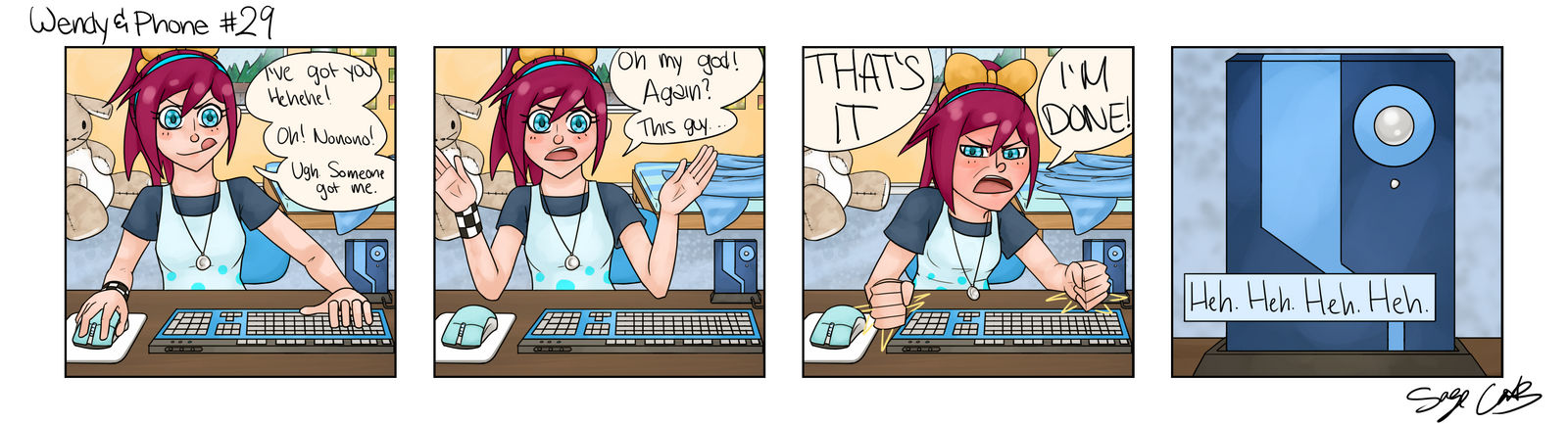 Wendy and Phone #29 by Mr-Sage