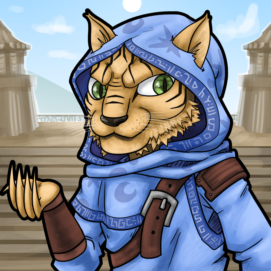 Khajiit Moon Priest by Mr-Sage