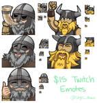 Viking Twitch Emotes by Mr-Sage