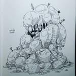 Inktober #8 - Ooze Monster by Mr-Sage