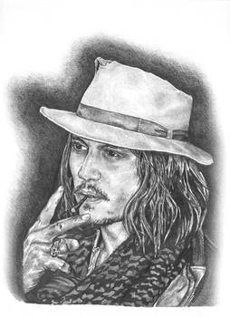 Johnny Depp - Graphite Pencil