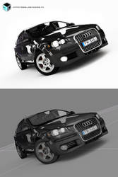 Audi A3, 3DS, Vray, edit+wire by JK-Studios