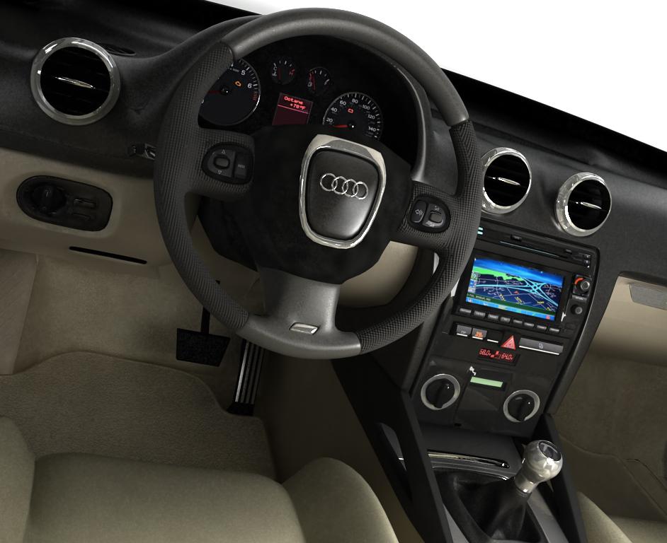 Audi 3d model interior 01