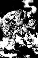 Captain America and Hulk by JacksonHerbert