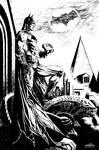 The Batman on gargoyle (alien)