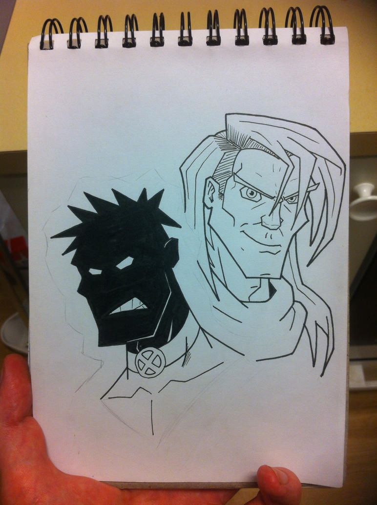 X-Force - Sunspot and Rictor (WIP) by rustymuldoon
