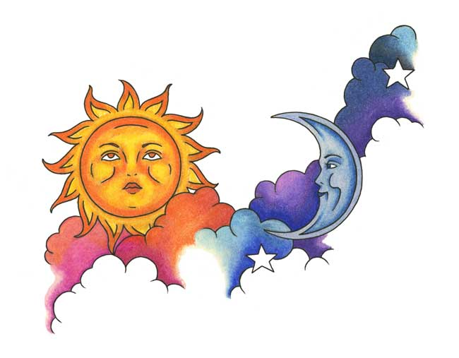 Moon And Stars Designs Tattoo Design Sun Moon Stars