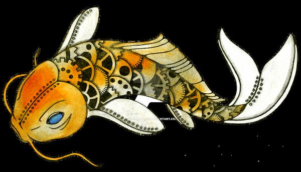 Steampunk Koi (Clockwork Fantasia) by NoraBlansett