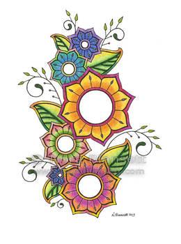Floral Henna Design