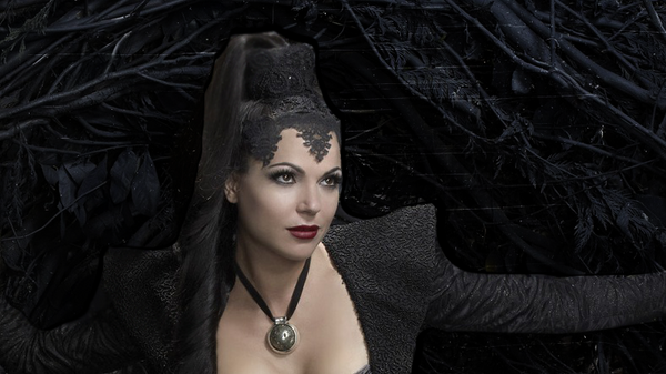 Once Upon A Time - The Evil Queen Lyt Header by VampireBloodline
